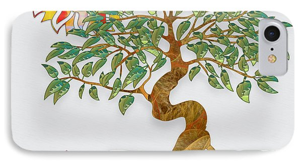 Meditation Tree Phone Case by Gayle Odsather