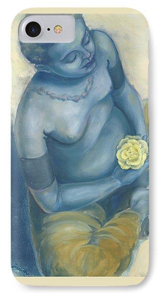 Meditation With Flower Phone Case by Judith Grzimek