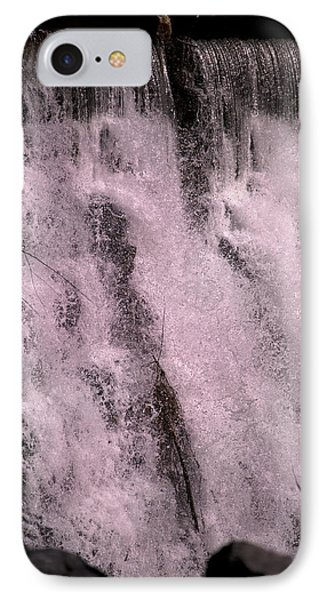 Meditative Otter Lake Waterfall  IPhone Case by Betsy Knapp