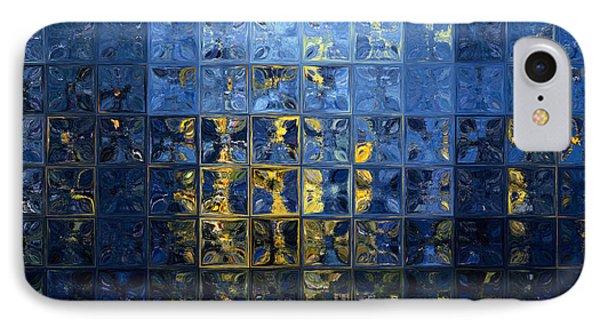 Mediterranean Blue. Modern Mosaic Tile Art Painting IPhone Case