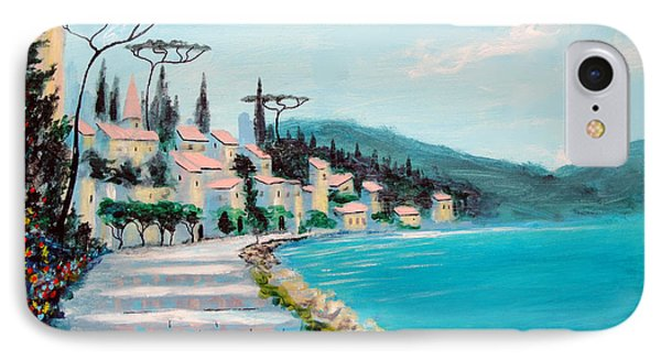 IPhone Case featuring the painting Mediterranean Shores by Larry Cirigliano