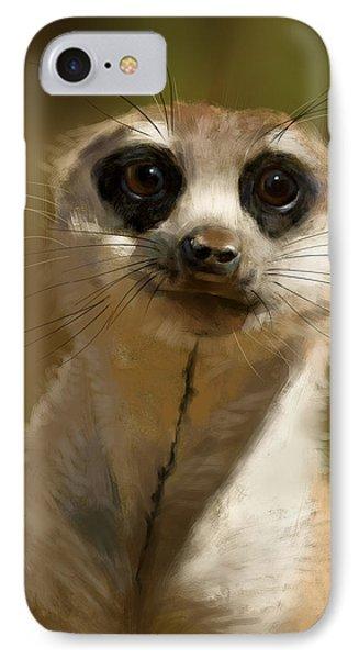 Meerkat Guardian IPhone Case by Arie Van der Wijst