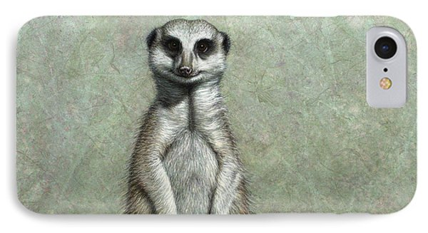 Meerkat iPhone 7 Case - Meerkat by James W Johnson