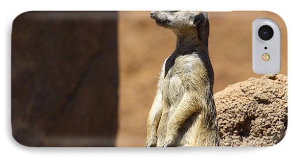 Meerkat Lookout Squared IPhone Case by Chris Thomas