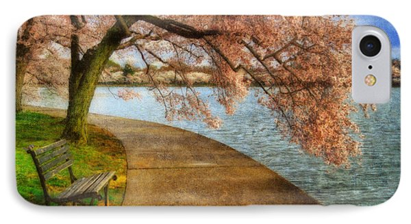 Meet Me At Our Bench IPhone Case by Lois Bryan