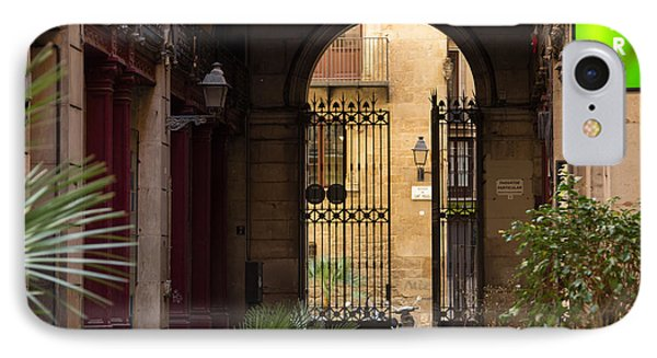 Meet Me For Coffee In The Courtyard Phone Case by Rene Triay Photography