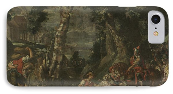 Meeting Between David And Abigail, Joachim Wtewael IPhone Case by Litz Collection