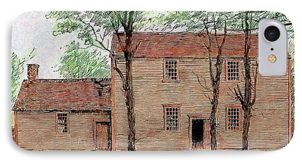 Meeting House Of The Quakers IPhone Case by Prisma Archivo