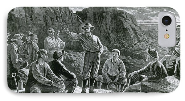 Meeting Of The Molly Maguires, 1874 IPhone Case