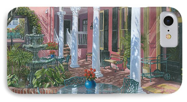 Meeting Street Inn Charleston IPhone Case by Richard Harpum