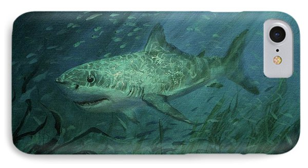 Megadolon Shark Phone Case by Tom Shropshire