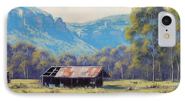 Megalong Valley Shed IPhone Case by Graham Gercken