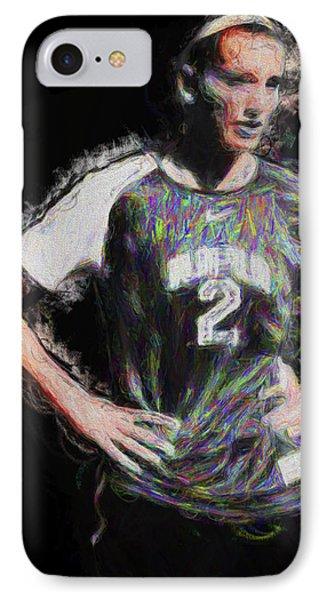 Megan Hock Iupui Painted Digitally Soccer Futbol IPhone Case by David Haskett