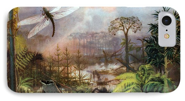 Meganeura In Upper Carboniferous Phone Case by Science Source