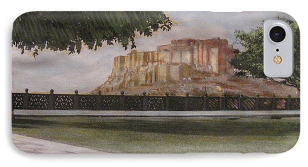 IPhone Case featuring the painting Mehrangarh Fort by Vikram Singh