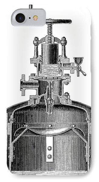 Mekarsky Compressed Air Engine IPhone Case by Science Photo Library
