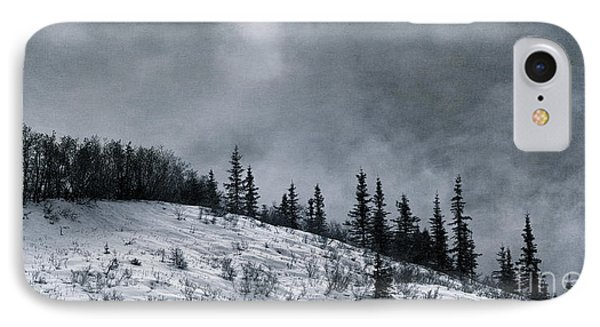 Melancholia Pines And Trees IPhone Case by Priska Wettstein