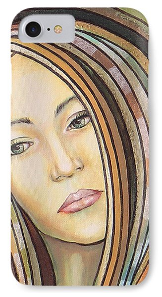 IPhone Case featuring the painting Melancholy 300308 by Sylvia Kula
