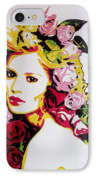 Melancholy With Roses IPhone Case