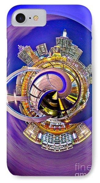 Melbourne City Skyline Circagraph 2 IPhone Case by Az Jackson