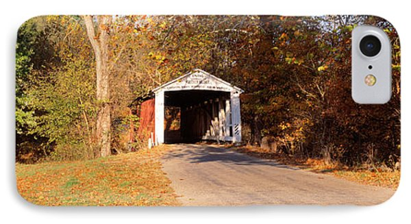 Melcher Covered Bridge Parke Co In Usa IPhone Case by Panoramic Images