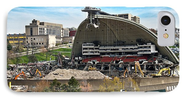 Mellon Arena Partially Deconstructed Phone Case by Amy Cicconi