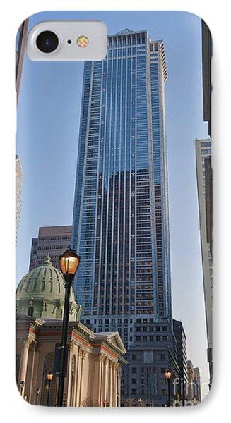 Mellon Bank Center Penn Center Market West Skyscrapers Phila Pa Phone Case by David Zanzinger
