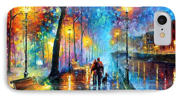 Melody Of The Night - Palette Knife Landscape Oil Painting On Canvas By Leonid Afremov IPhone Case by Leonid Afremov
