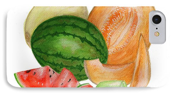 IPhone Case featuring the painting Melons  by Nan Wright