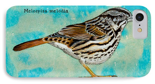 Melospiza Melodia IPhone Case by Stefanie Forck