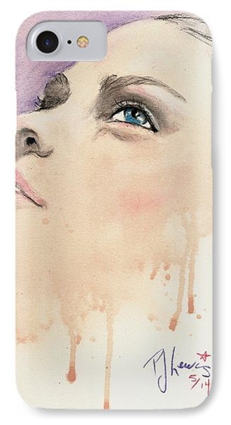 Melting Youthful Beauty IPhone Case by P J Lewis