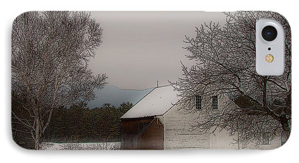 IPhone Case featuring the photograph Melvin Village Barn In Winter by Brenda Jacobs