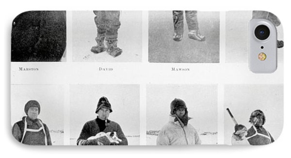Members Of The British Antarctic Expedition At The Start Of The Journey IPhone Case