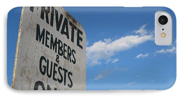 Members Only IPhone Case by Barbara Bardzik