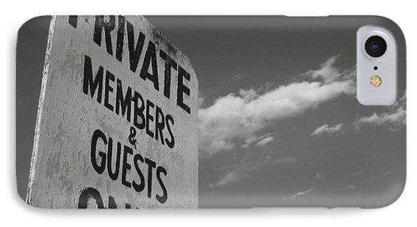 Members Only Monochrome IPhone Case by Barbara Bardzik