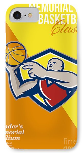 Memorial Day Basketball Classic Poster IPhone Case by Aloysius Patrimonio