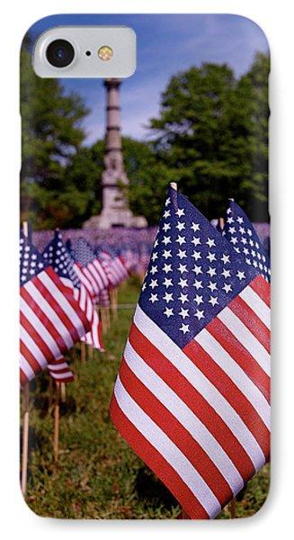 Memorial Day Flag Garden Phone Case by Rona Black