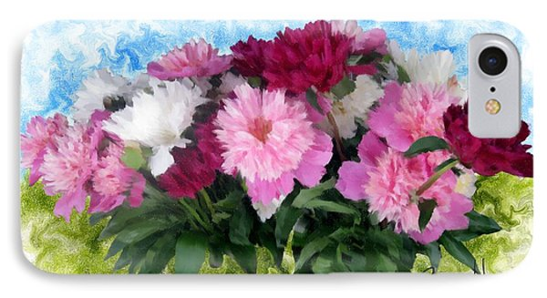 Memorial Day Peonies IPhone Case by Ric Darrell