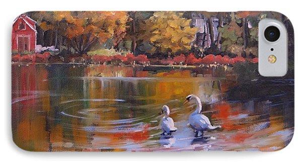 Memorial Pond IPhone Case by Laura Lee Zanghetti