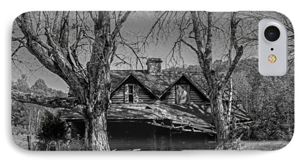 Memories Of Ages Past B W IPhone Case by HH Photography of Florida