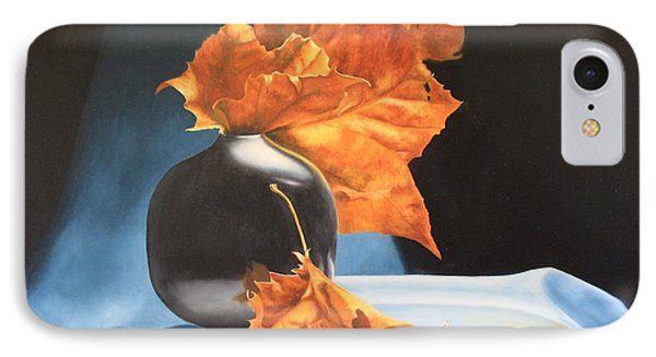 Memories Of Fall - Oil Painting IPhone Case by Roena King