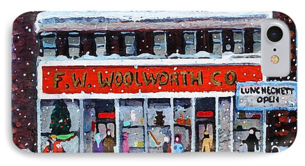 Memories Of Winter At Woolworth's IPhone Case by Rita Brown