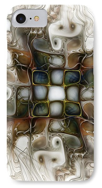 Memory Boxes-fractal Art IPhone Case by Karin Kuhlmann