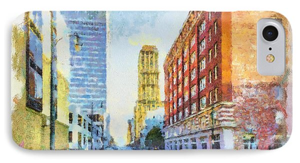 Memphis City Street IPhone Case by Barry Jones