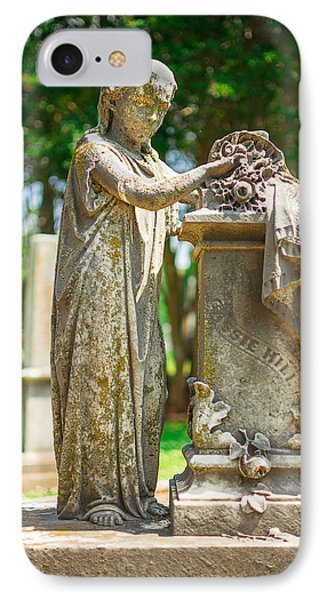 Memphis Elmwood Cemetery Monument - Cassie Hill IPhone Case by Jon Woodhams