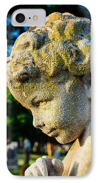 Memphis Elmwood Cemetery - Boy Angel Vertical IPhone Case by Jon Woodhams