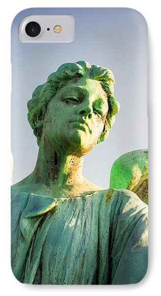 Memphis Elmwood Cemetery - Patinated Angel IPhone Case