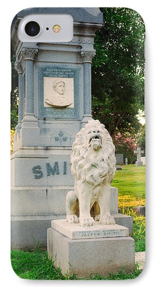 Memphis Elmwood Cemetery - Guarding Jasper IPhone Case by Jon Woodhams