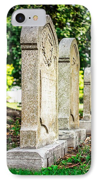 Memphis Elmwood Cemetery Monument - Four In A Row IPhone Case by Jon Woodhams