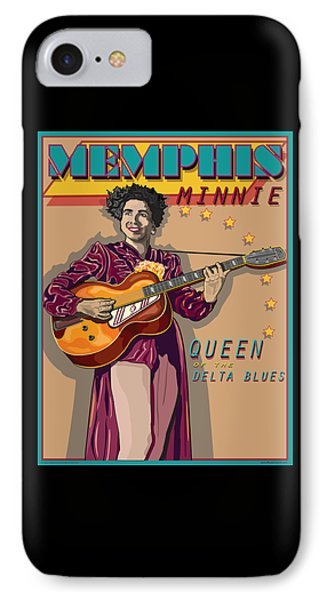Memphis Minnie Queen Of The Delta Blues Phone Case by Larry Butterworth
